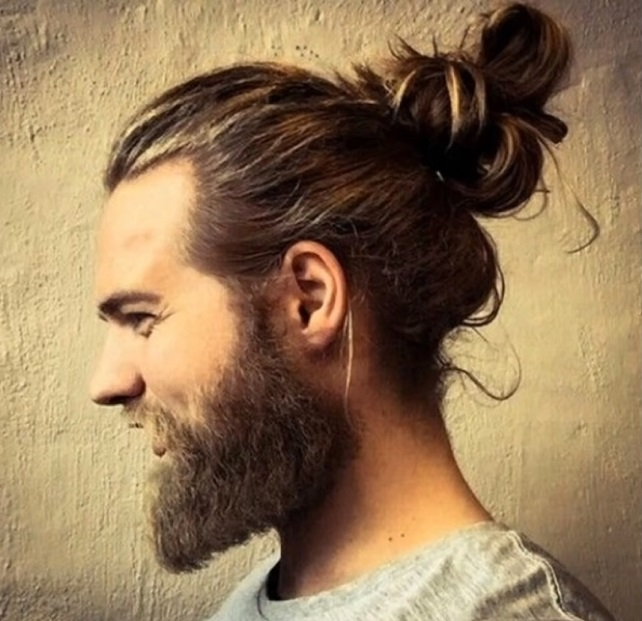 long hair style with beard